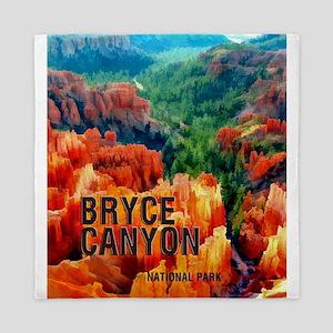 Hoodoos in Bryce Canyon National Park Queen Duvet