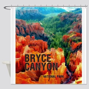 Hoodoos in Bryce Canyon National Pa Shower Curtain