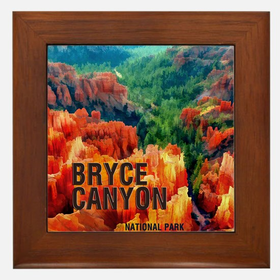 Hoodoos in Bryce Canyon National Park Framed Tile