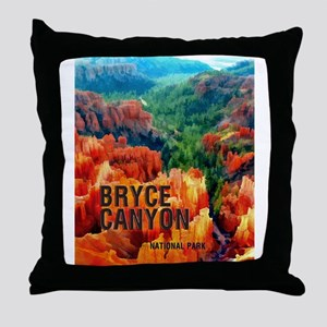Hoodoos in Bryce Canyon National Park Throw Pillow