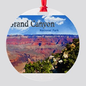 Grand Canyon NAtional Park Poster Round Ornament