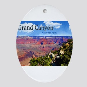 Grand Canyon NAtional Park Poster Ornament (Oval)