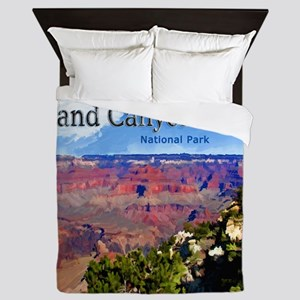 Grand Canyon NAtional Park Poster Queen Duvet
