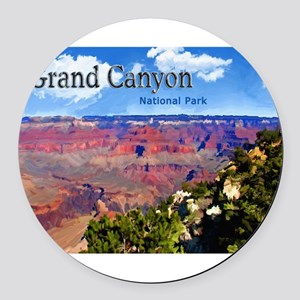 Grand Canyon NAtional Park Poster Round Car Magnet