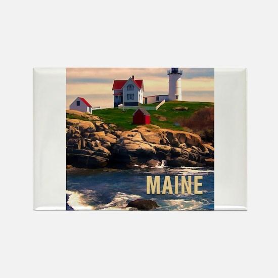 Cape Neddick Lighthouse Maine at Sunset Magnets