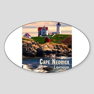 Cape Neddick Lighthouse at Sunset Sticker
