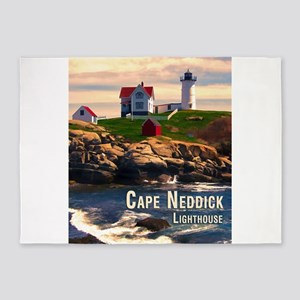 Cape Neddick Lighthouse at Sunset 5'x7'Area Rug