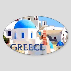 Blinding White Buildings in Greece Sticker
