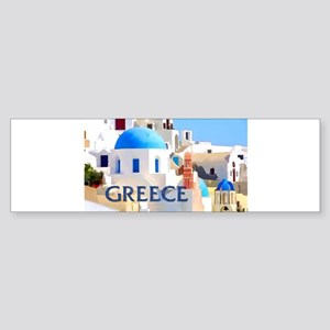 Blinding White Buildings in Greece Bumper Sticker