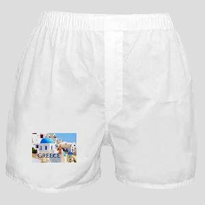Blinding White Buildings in Greece Boxer Shorts