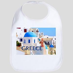 Blinding White Buildings in Greece Bib