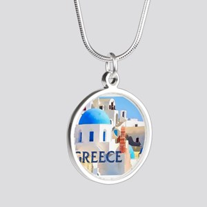 Blinding White Buildings in Greece Necklaces