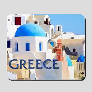 Blinding White Buildings in Greece Mousepad