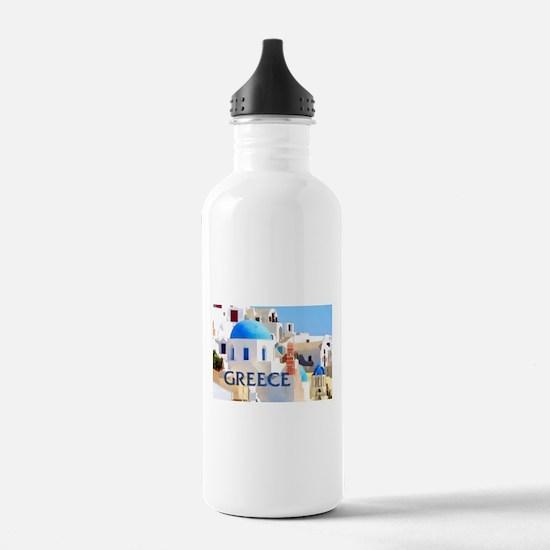 Blinding White Buildin Sports Water Bottle