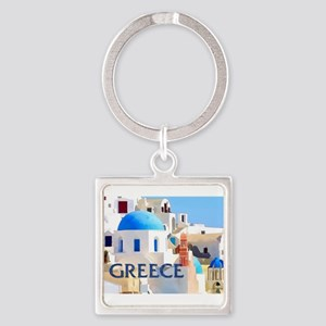 Blinding White Buildings in Gre Keychains