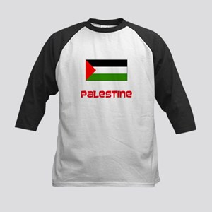 Palestine Flag Retro Red Design Baseball Jersey