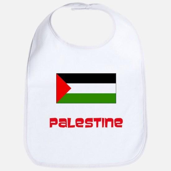 Palestine Flag Retro Red Design Baby Bib