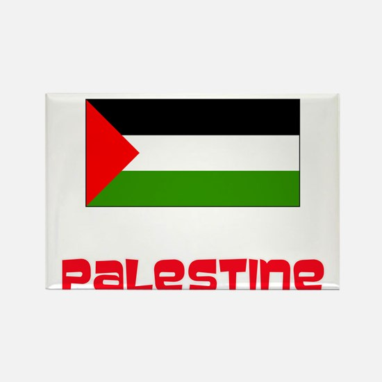 Palestine Flag Retro Red Design Magnets