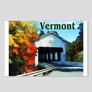 White Covered Bridge Col Postcards (Package of 8)
