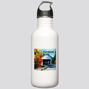 White Covered Bridge Stainless Water Bottle 1.0L