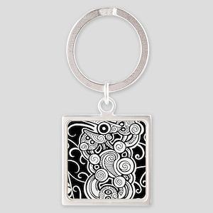 polynesian design Square Keychain