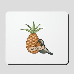 ALOHA PINEAPPLE & CROW Mousepad