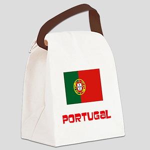 Portugal Flag Retro Red Design Canvas Lunch Bag