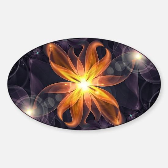 Beautiful Orange Star Lily Fractal Flower Decal