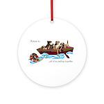 Border Terrier Rescue Ornament (Round)