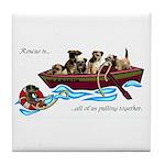 Border Terrier Rescue Tile Coaster