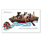 Border Terrier Rescue Rectangle Sticker