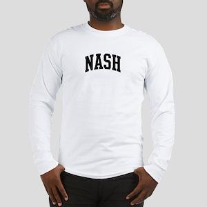 NASH (curve-black) Long Sleeve T-Shirt