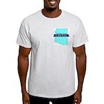 True Blue Arizona LIBERAL Ash Gray T-Shirt