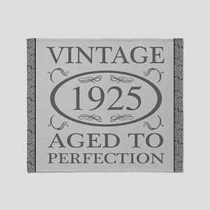 1925 Vintage Fancy Throw Blanket