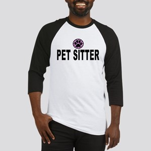 Pet Sitter Purple Circle Paw Baseball Jersey