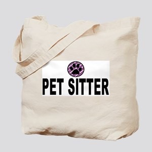 Pet Sitter Purple Circle Paw Tote Bag