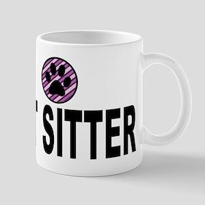 Pet Sitter Purple Circle Paw Mugs