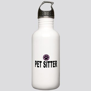 Pet Sitter Purple Circle Paw Water Bottle