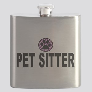 Pet Sitter Purple Circle Paw Flask