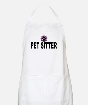 Pet Sitter Purple Circle Paw Apron