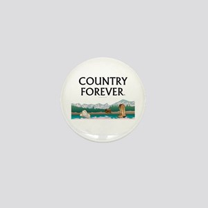 Country Forever Mini Button