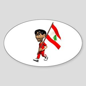 Lebanon Boy Oval Sticker