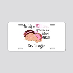 Personalized Funny Gynecolo Aluminum License Plate