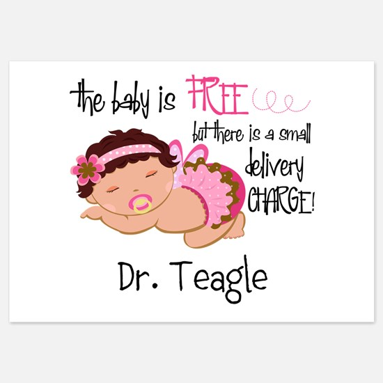 Personalized Funny Gynecologists 5x7 Flat Cards