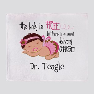 Personalized Funny Gynecologists Throw Blanket