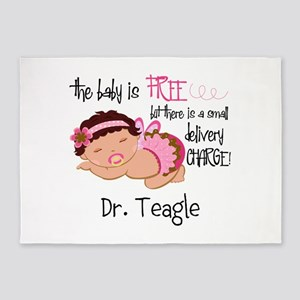 Personalized Funny Gynecologists 5'x7'Area Rug