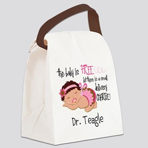 Personalized Funny Gynecologists Canvas Lunch Bag