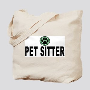 Pet Sitter Green Stripes Tote Bag