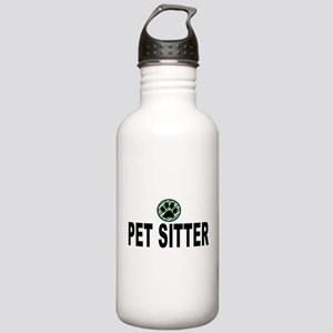 Pet Sitter Green Strip Stainless Water Bottle 1.0L