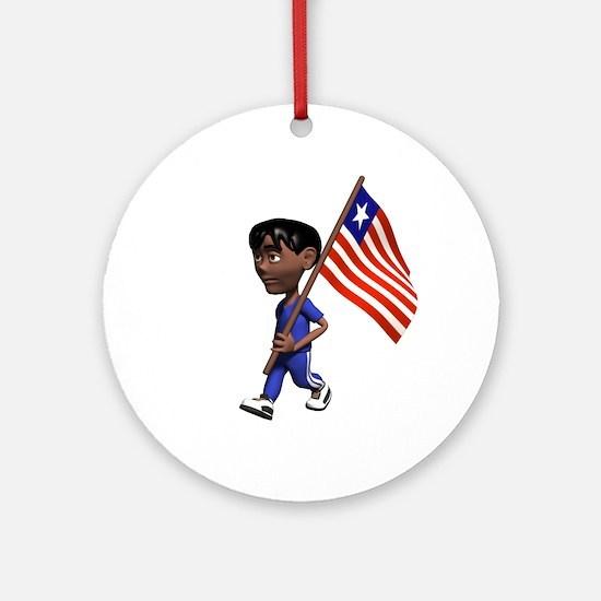 Liberia Boy Ornament (Round)